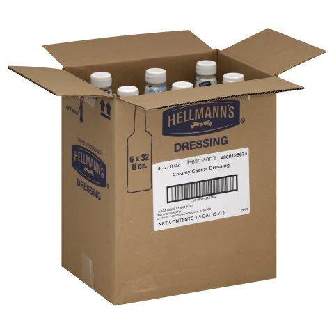 Hellmann's®  Salad Bar Bottles Creamy Caesar 32 ounces, 6 count -