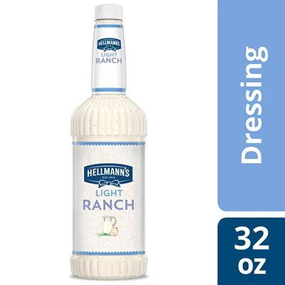 Hellmann's® Salad Dressing Salad Bar Bottle Light Ranch 32 Ounces, Pack of 6