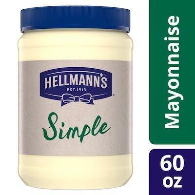 Hellmann's® Simple Mayonnaise 60 ounces, pack of 6 -