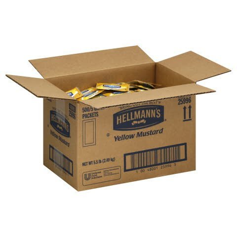 Hellmann's® YELLOW MUSTARD PORTION CONTROLPACKET - 10048001259963