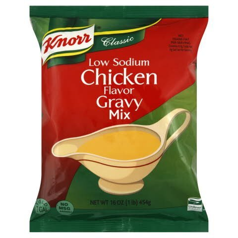 Knorr® Instant Sauce Mix Low Sodium Chicken Gravy 1 pound, 6 count -