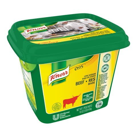 Knorr® Professional 095 Low Sodium Beef Base 12 x 1 lb -