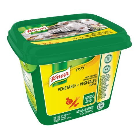 Knorr® Professional 095 Low Sodium Vegetable Base 12 x 1 lb -
