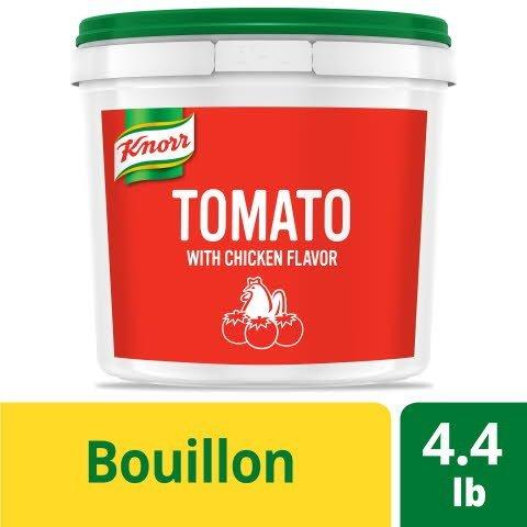 Knorr® Professional Caldo de Tomate/Tomato Chicken Bouillon 4 x 4.4 lb -