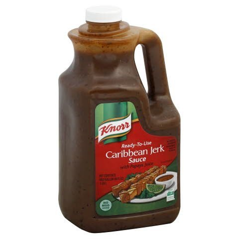 Knorr® Professional Caribbean Jerk with Papaya Juice Ready-to-use Sauce 0.5 gallons, pack of 4 -