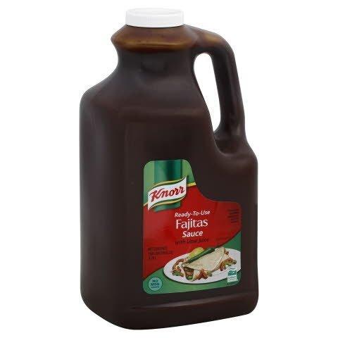 Knorr® Professional Sauce Jug Fajitas Sauce with Lime 1 gallon, 2 count -