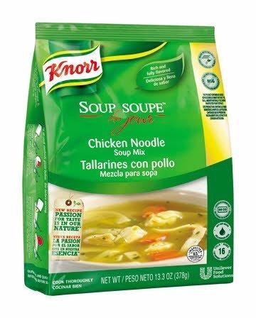 Knorr® Professional Soup du Jour Chicken Noodle 13.3 ounces, pack of 4 -