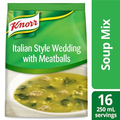 Knorr® Professional Soup du Jour Italian Style Wedding with Meatballs Mix 4 x 18.2 oz -