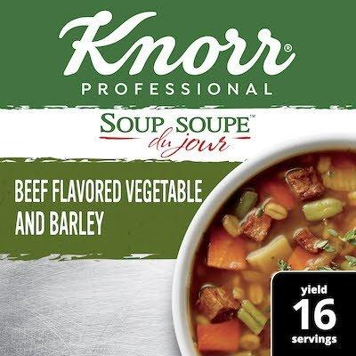 Knorr® Professional Soup du Jour Mix Beef Flavored Vegetable & Barley 4 x 13.9 oz -