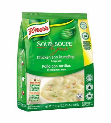 Knorr® Professional Soup du Jour Mix Chicken and Dumplings 22.9 ounces, 4 count -