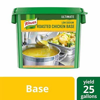 Knorr® Professional Ultimate Low Sodium Chicken Bouillon Base 4 x 5 lb -