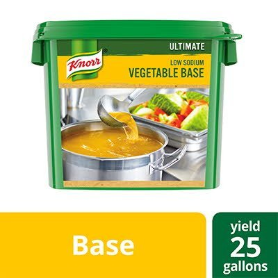 Knorr® Professional Ultimate Low Sodium Vegetable Bouillon Base 4 x 5 lb -