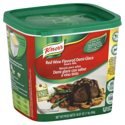Knorr® Red Wine Flavored Demi-Glace Sauce Mix - 10048001367286