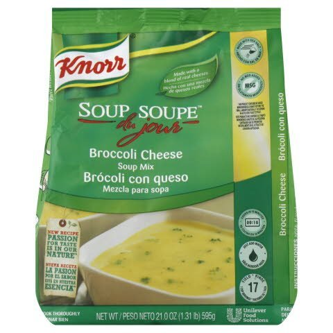Knorr® Soup du Jour Broccoli Cheese 20.98 ounces, pack of 6 -