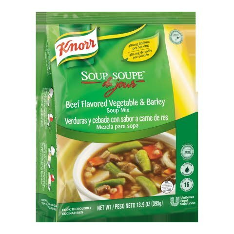 Knorr® Soup du Jour Mix Beef Flavor Vegetable and Barley 13.9 ounces, 4 count -
