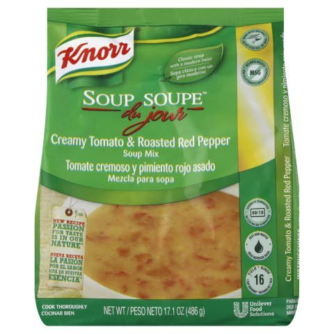 Knorr® Soup du Jour Mix Creamy Tomato and Roasted Red Pepper 17.1 ounces, pack of 4 -