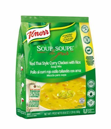 Knorr® Soup du Jour Mix Thai Chicken Curry 20.6 ounces, pack of 4 -