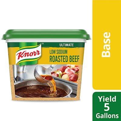 Knorr® Ultimate Low Sodium Beef Base Gluten Free 1 pound, pack of 6