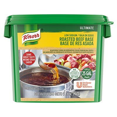 Knorr® Ultimate Low Sodium Beef Base Gluten Free 5 pound, pack of 4