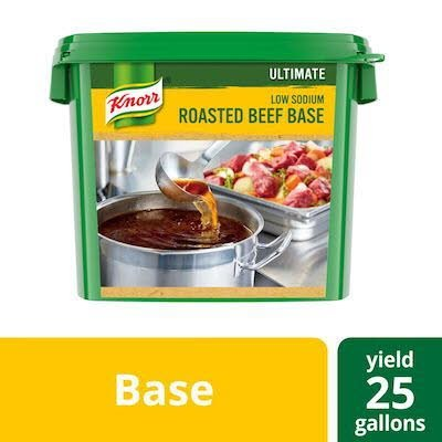 Knorr® Ultimate Low Sodium Beef Base Gluten Free 5 pound, pack of 4 -