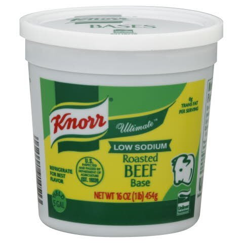 Knorr® Ultimate Low Sodium Roasted Beef Base - 10048001914510