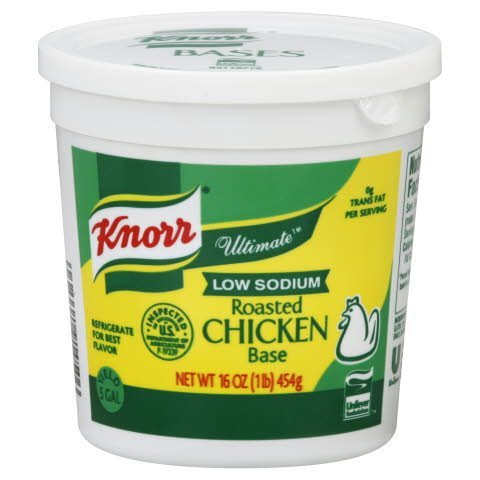 Knorr® Ultimate Low Sodium Roasted Chicken Base - 10048001914503