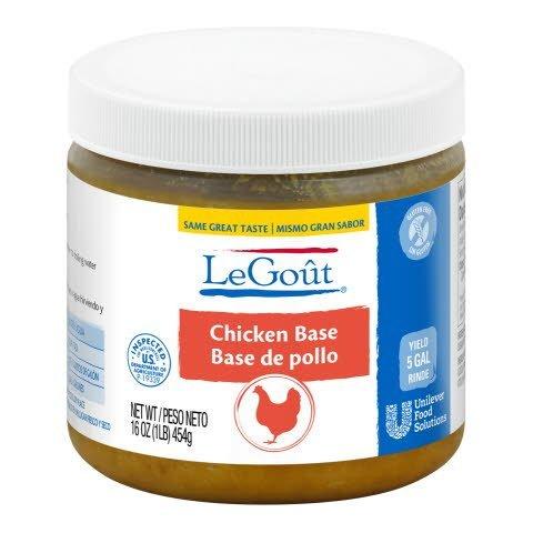 LeGout® Chicken Bouillon Base 12 x 1 lb -