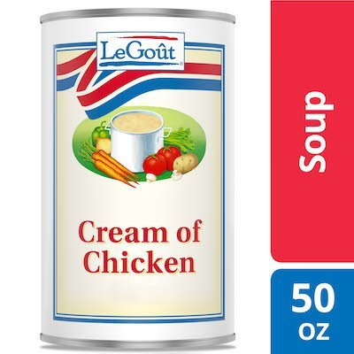 Legout® Cream of Chicken Condensed Canned Soup 3 pounds, pack of 12 -