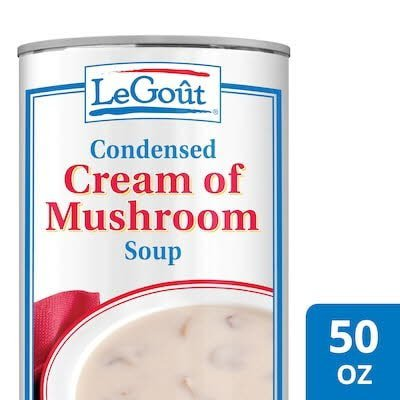 Legout® Cream of Mushroom Condensed Canned Soup 50 ounces, pack of 12 -