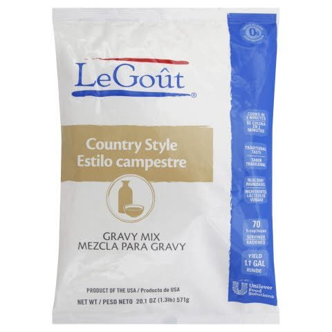 Legout® Instant Gravy Mix Country Style 20.1 ounces, 6 count