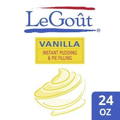LeGout® Instant Vanilla Cream Pudding & Pie Filling 12 x 24 oz -