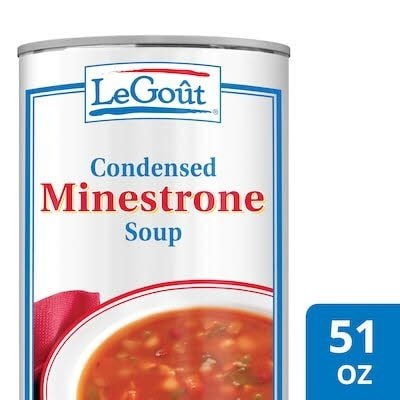 Legout® Minestrone Condensed Canned Soup 3 pounds, pack of 12 -