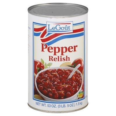 LeGout® Pepper Relish 3lb, pack of 6 -