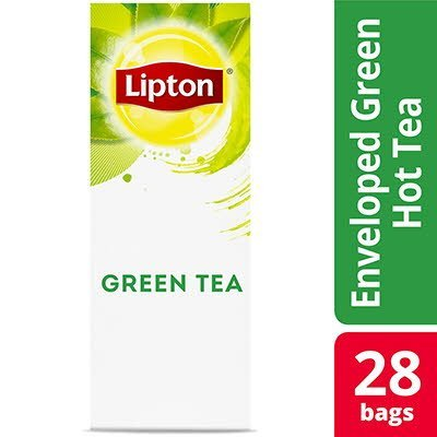 Lipton® Hot Tea Bags Enveloped Green Tea 28 count, Pack of 6