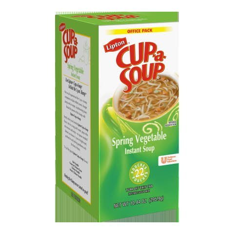 Lipton® Instant Cup a Soup Spring Vegetable 22 pouches, 4 count