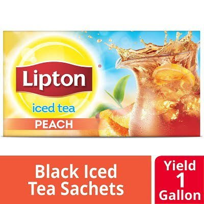 Lipton® Unsweetened Iced Tea Peach 1 gallon, 24 count, Pack of 2
