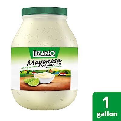 Lizano Real Mayonnaise with Lime Juice 4 x 1 gal -