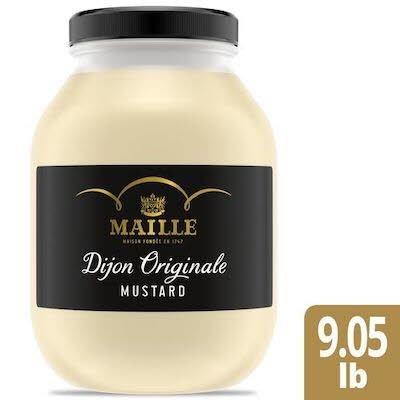 Maille Original Dijon Mustard Jar 9.05 lbs, Pack of 4 -