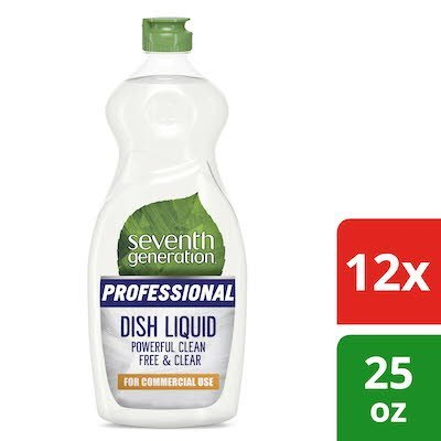Seventh Generation Professional Dish Liquid 25 oz x 12 -