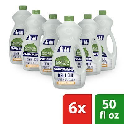 Seventh Generation Professional Dish Liquid Refill 50 oz x 6 -
