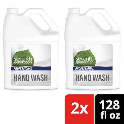 Seventh Generation Professional Liquid Hand Wash Soap Refill 128 oz x 2 -