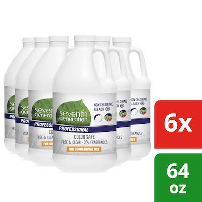 Seventh Generation Professional Non Chlorine Bleach 64 oz x 6 -