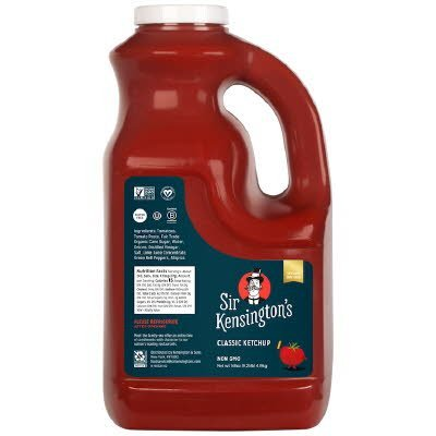 Sir Kensington's Classic Ketchup 4 x 148 oz - High fructose corn syrup will never enter our kitchen.