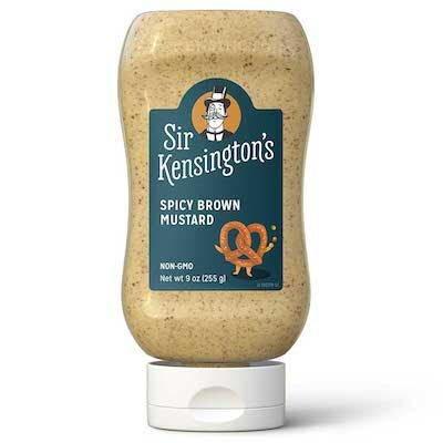 Sir Kensington's Spicy Brown Mustard 6 x 9 oz - #1 Grade Mustard Seeds