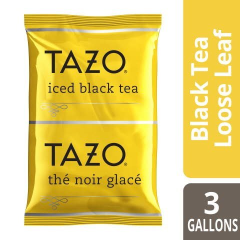 TAZO® Fresh Brewed Iced Tea Black 3 gallon, pack of 48 - TAZO® offers teas with a twist for deliciously unique flavors