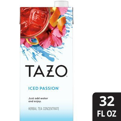 TAZO® Iced Tea Concentrate Passion 1:1 32 ounces, pack of 6 - TAZO® offers teas with a twist for deliciously unique flavors