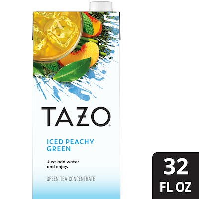 TAZO® Iced Tea Concentrate Peachy Green 1:1 32 ounces, pack of 6 - TAZO® offers teas with a twist for deliciously unique flavors