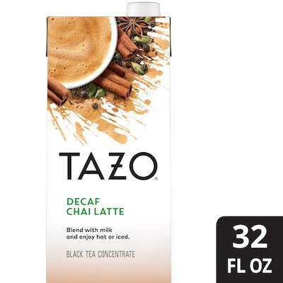 TAZO® Tea Concentrate Decaf Chai Latte 1:1 32 ounces, pack of 6 -