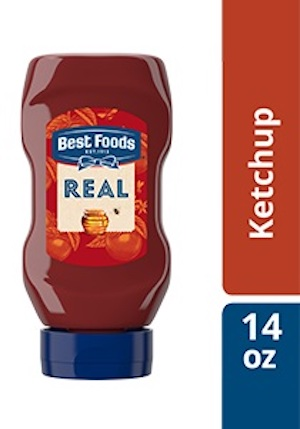 Best Foods® Ketchup with Honey Squeeze Bottle 12 x 14 oz - Best Foods Real Ketchup & Real Yellow Mustard have simple ingredients guests can trust.