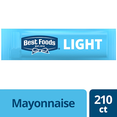 Best Foods® Light Mayonnaise Stick Pack 210 x 0.38 oz - Hellmann's® brings out the flavor of quality meat and produce.
